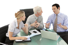 Business explanation at a meeting Royalty Free Stock Photos