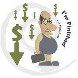 Business failure. Sad old man because of his business failure Royalty Free Stock Images