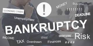 Business Failure Bankruptcy Financial Crisis Recession Concept royalty free stock photos