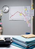 Business failure chart on office wall Stock Photo