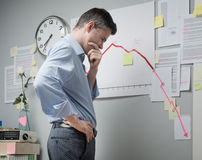 Business failure Royalty Free Stock Photo