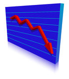 Business Failure graph Stock Image