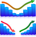 Business Failure and growth graphs Stock Images