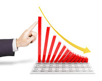 Business failure Royalty Free Stock Images