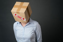 Business Failure - Head in a Box Stock Photography