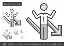 Business failure line icon. Stock Photography