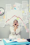 Business failure with negative chart Stock Photography
