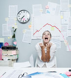 Business failure with negative chart Stock Image
