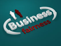 Business - Fairness - letters Royalty Free Stock Images