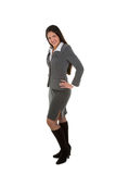 Business Fashion. Young student or business woman in fashionable business suit Stock Images