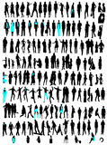Business, fashion variety silhouettes Stock Image
