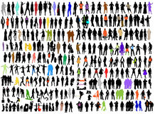 Business, fashion variety silhouettes Royalty Free Stock Photography