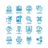 Business Fat Line Icon set Royalty Free Stock Image