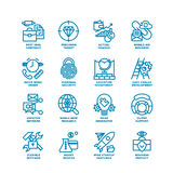 Business Fat Line Icon set Royalty Free Stock Photography
