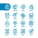 Business Fat Line Icon set Royalty Free Stock Photo