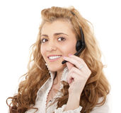 Business female customer service representative Stock Photo