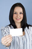 Business female give a business card Royalty Free Stock Photography
