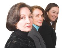 Business female management team over white Royalty Free Stock Photography
