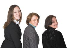 Business female management team smiling Royalty Free Stock Photos