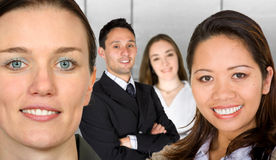 Business female partners with their team Royalty Free Stock Photo