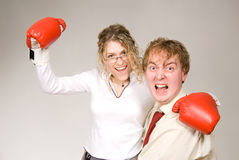 Business fight Royalty Free Stock Image
