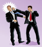 Business fight. With Vector, the men are on separate layers and can be moved around Royalty Free Stock Photo