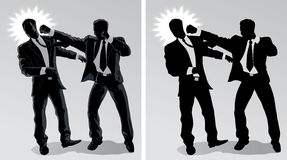 Business fight. With Vector, the men are on separate layers and can be moved around Royalty Free Stock Images