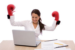 Business fight Royalty Free Stock Photography