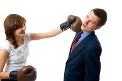 Business fight Royalty Free Stock Photo
