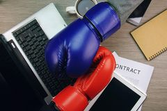 Business fight or competitor. royalty free stock image