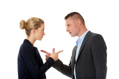 Business fight concept. Business people have conflict.  Royalty Free Stock Photo
