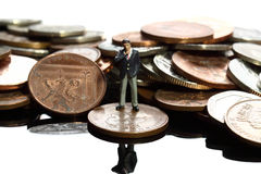 Business figure coins B Royalty Free Stock Image