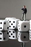 Business figure dice A Stock Photo