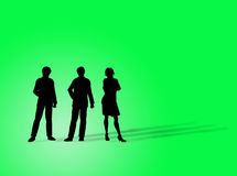 Business figures. Silhouette on a colorful background Stock Photos