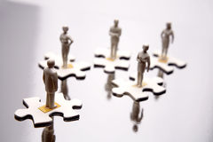 Business figures Stock Image