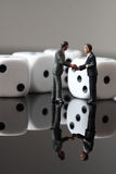 Business figures dice B Stock Images