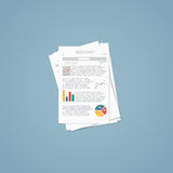 Business file report Royalty Free Stock Images