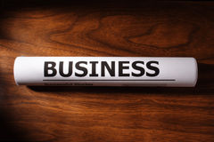 Business File on Table Stock Photography