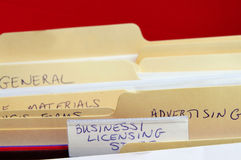 Business files Stock Photo