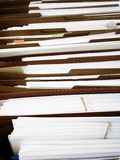 Business Files in Boxes adn Folders Royalty Free Stock Images