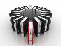 3d illustration of archive folders stack. Business files and folders isolated in white background Stock Image