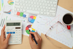 Business and Finanace Diagrams Royalty Free Stock Images