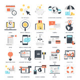 Business and Finance. Abstract vector collection of colorful flat business and finance icons. Design elements for mobile and web applications Royalty Free Stock Images