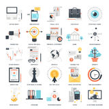 Business and Finance. Abstract vector collection of colorful flat business and finance icons. Design elements for mobile and web applications Stock Images