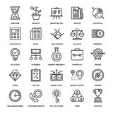 Business and Finance. Abstract vector collection of line business and finance icons. Elements for mobile and web applications Stock Photography