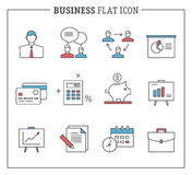 Business and finance, analytics icons Royalty Free Stock Image