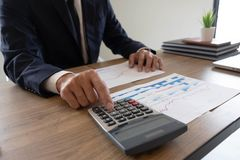 Business finance, auditing, accounting, consulting Collaboration, consultation royalty free stock image