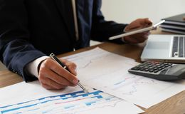 Business finance, auditing, accounting, consulting Collaboration, consultation royalty free stock images