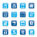 Business, finance and bank icons. Vector icon set Stock Photography