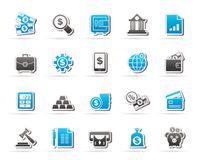 Business, finance and bank icons Royalty Free Stock Image